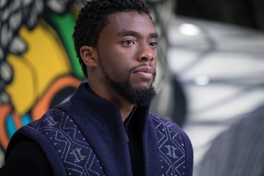 """Black Panther,"" starring Chadwick Boseman, scored seven Oscar nominations including best picture."