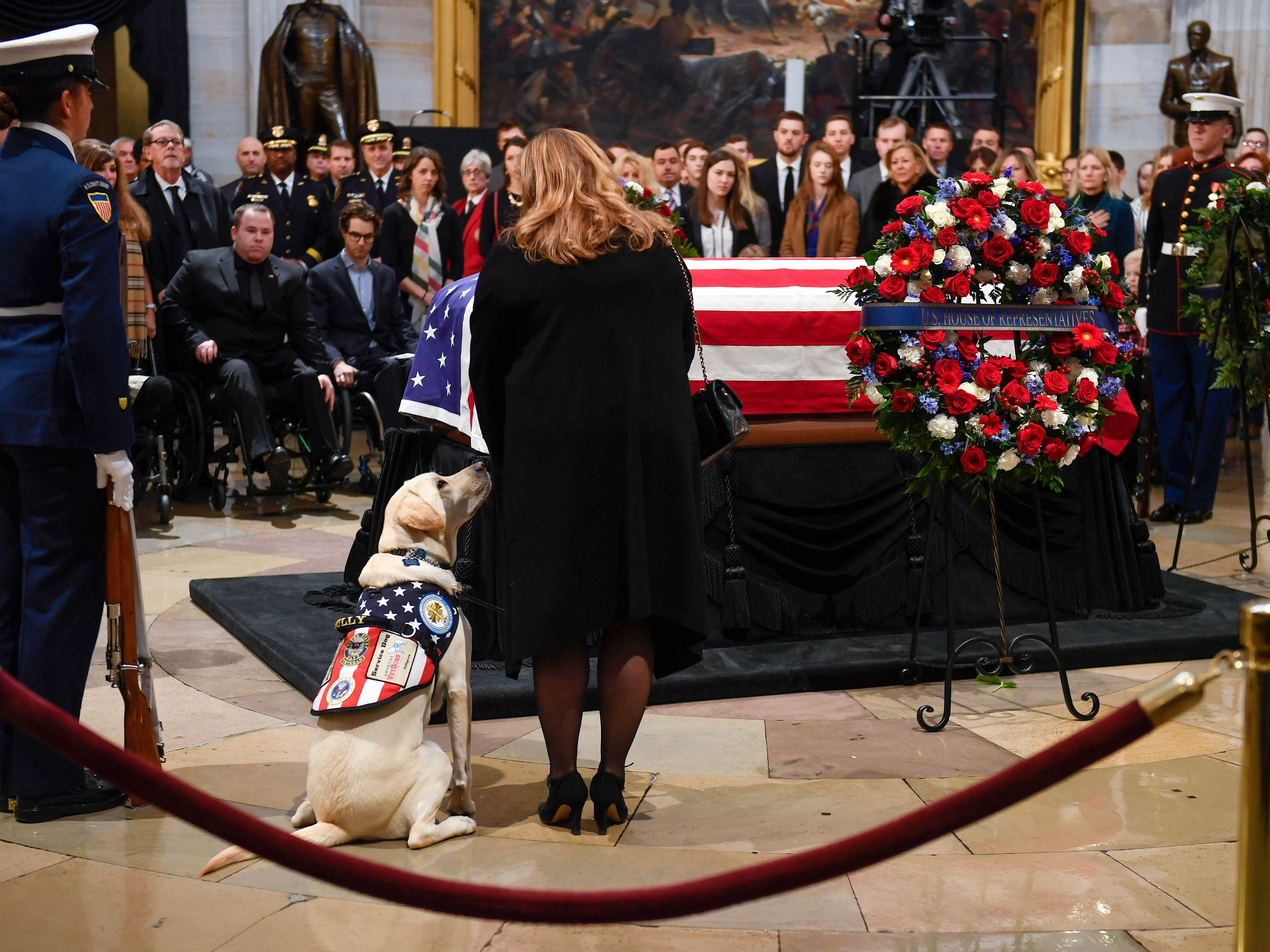 What's closed on national day of mourning for former President Bush?