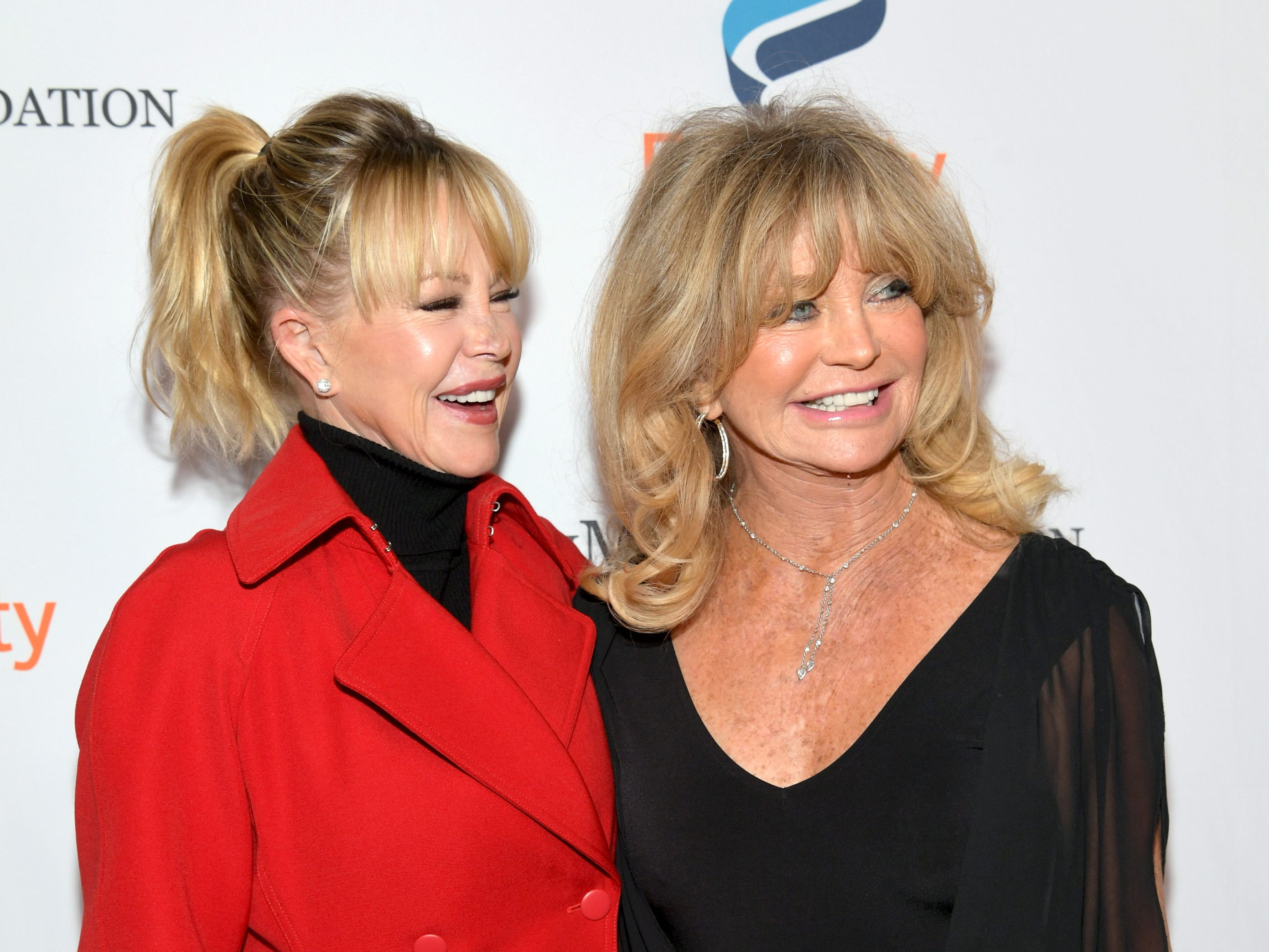 BEVERLY HILLS, CA - DECEMBER 03:  Melanie Griffith (L) and Goldie Hawn attend Equality Now's Make Equality Reality Gala 2018 at The Beverly Hilton Hotel on December 3, 2018 in Beverly Hills, California.  (Photo by Emma McIntyre/Getty Images for Equality Now) ORG XMIT: 775256434 ORIG FILE ID: 1068189122