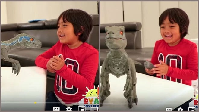 Ryan of Ryan Toysreview made $22 million last year, according to Forbes listing of highest-paid YouTube stars.