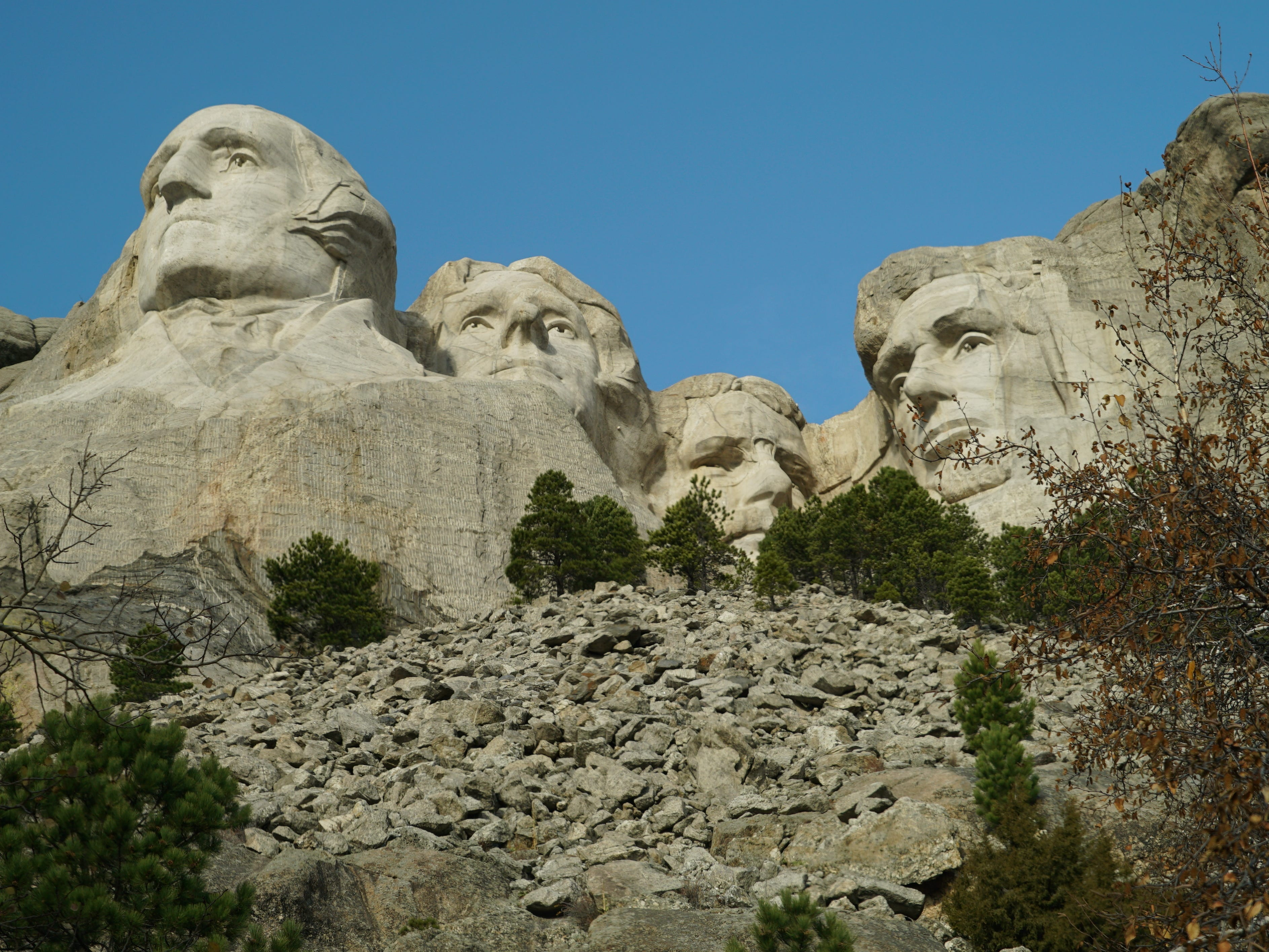 Each president on Mount Rushmore represents a different aspect of the first 150 years of U.S. history.