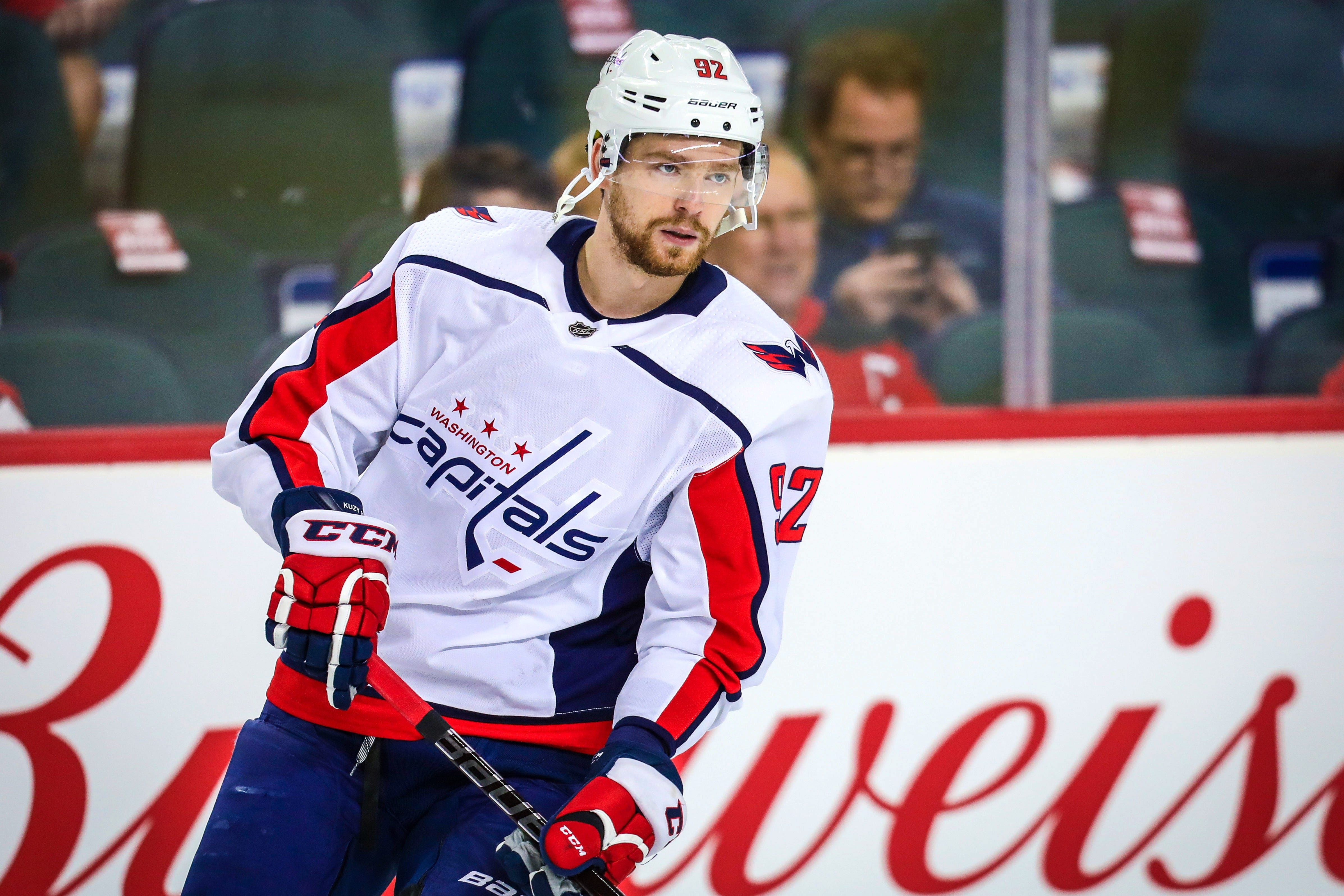 Capitals forward grabs opponent's stick, then gets penalized for trying to use it