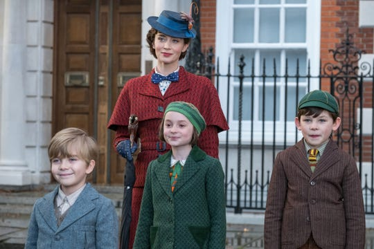 Emily Blunt is Mary Poppins, Joel Dawson is Georgie, Pixie Davies is Annabel and Nathanael Saleh is John in DisneyÕs MARY POPPINS RETURNS, a sequel to the 1964 MARY POPPINS, which takes audiences on an entirely new adventure with the practically perfect nanny and the Banks family.