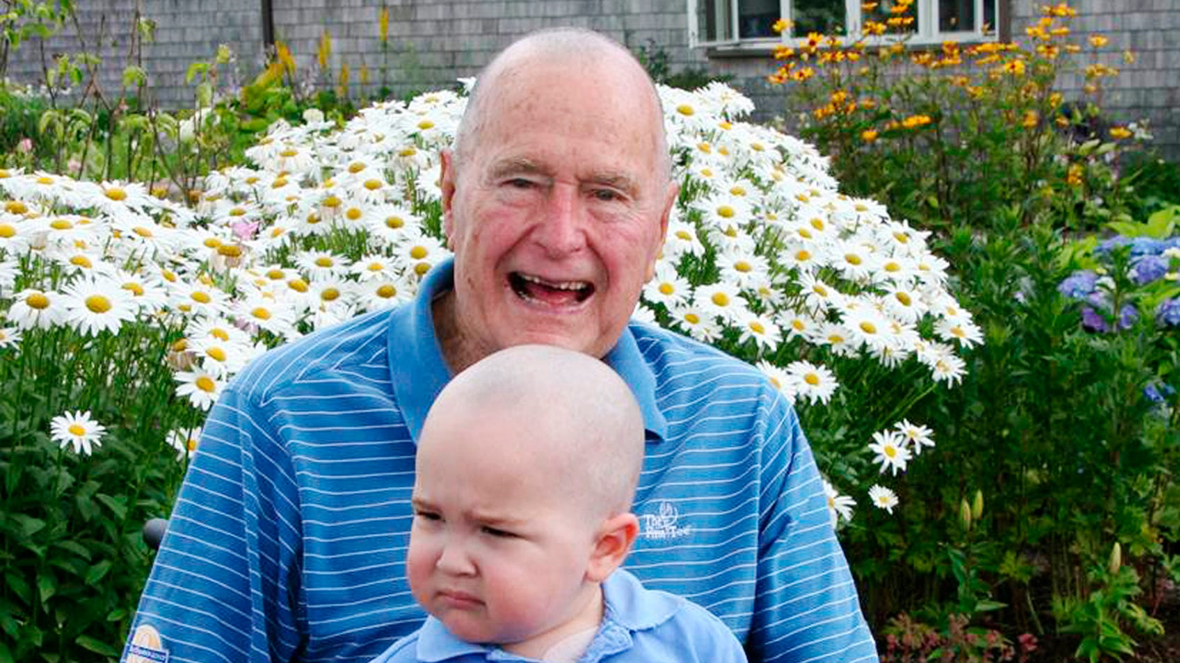 George H.W. Bush shaved his head once to support a Secret Service agent's son with leukemia
