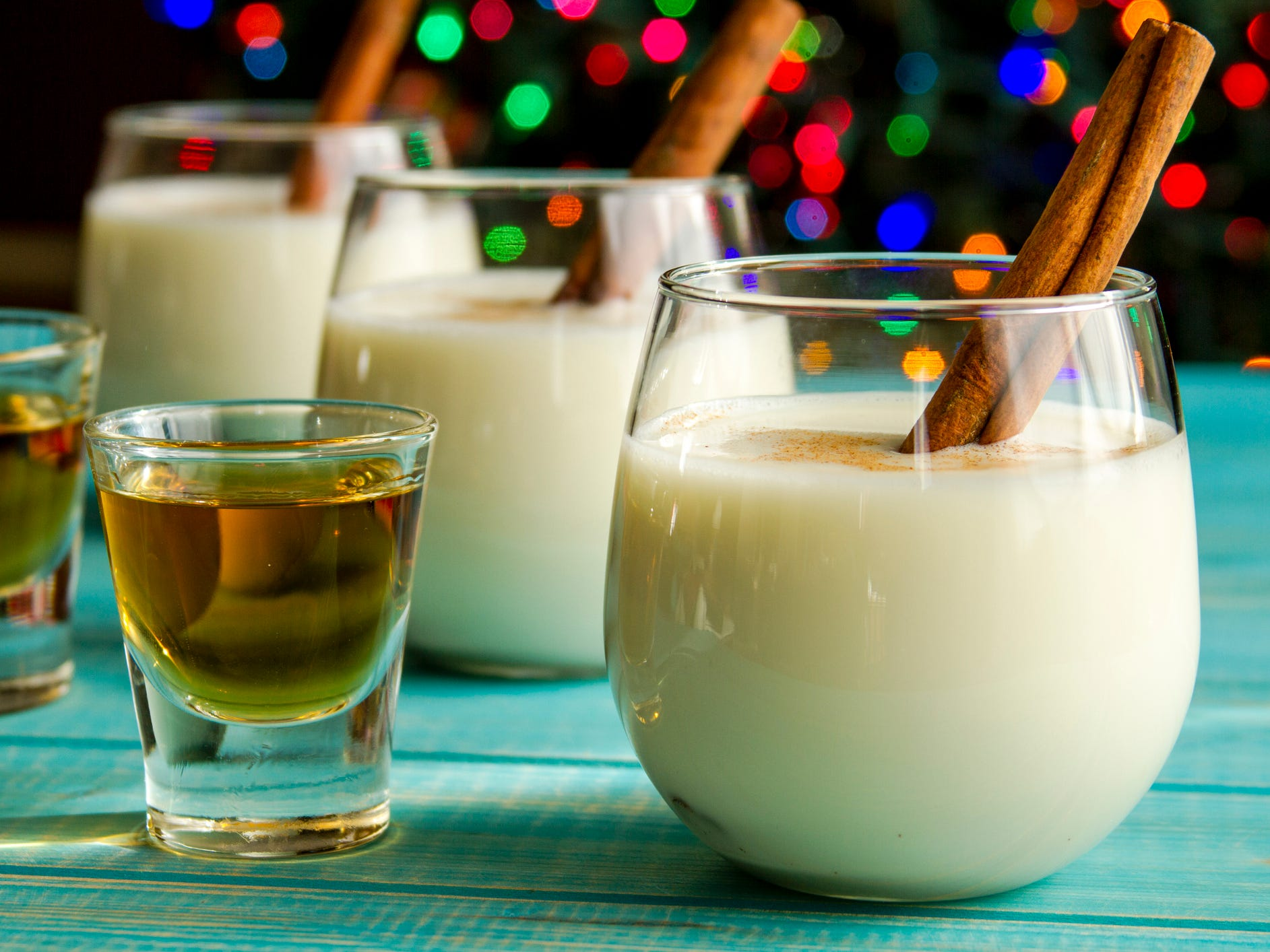 Eggnog, various countries: Eggnog may be a drink, but you should think of it more as a meal replacement shake. This creamy beverage packs about 400 calories, 19 grams of fat and 21 grams of sugar into one cup. On the bright side, you'll also get about 9.7 grams of protein (and maybe a nice buzz if it's spiked).