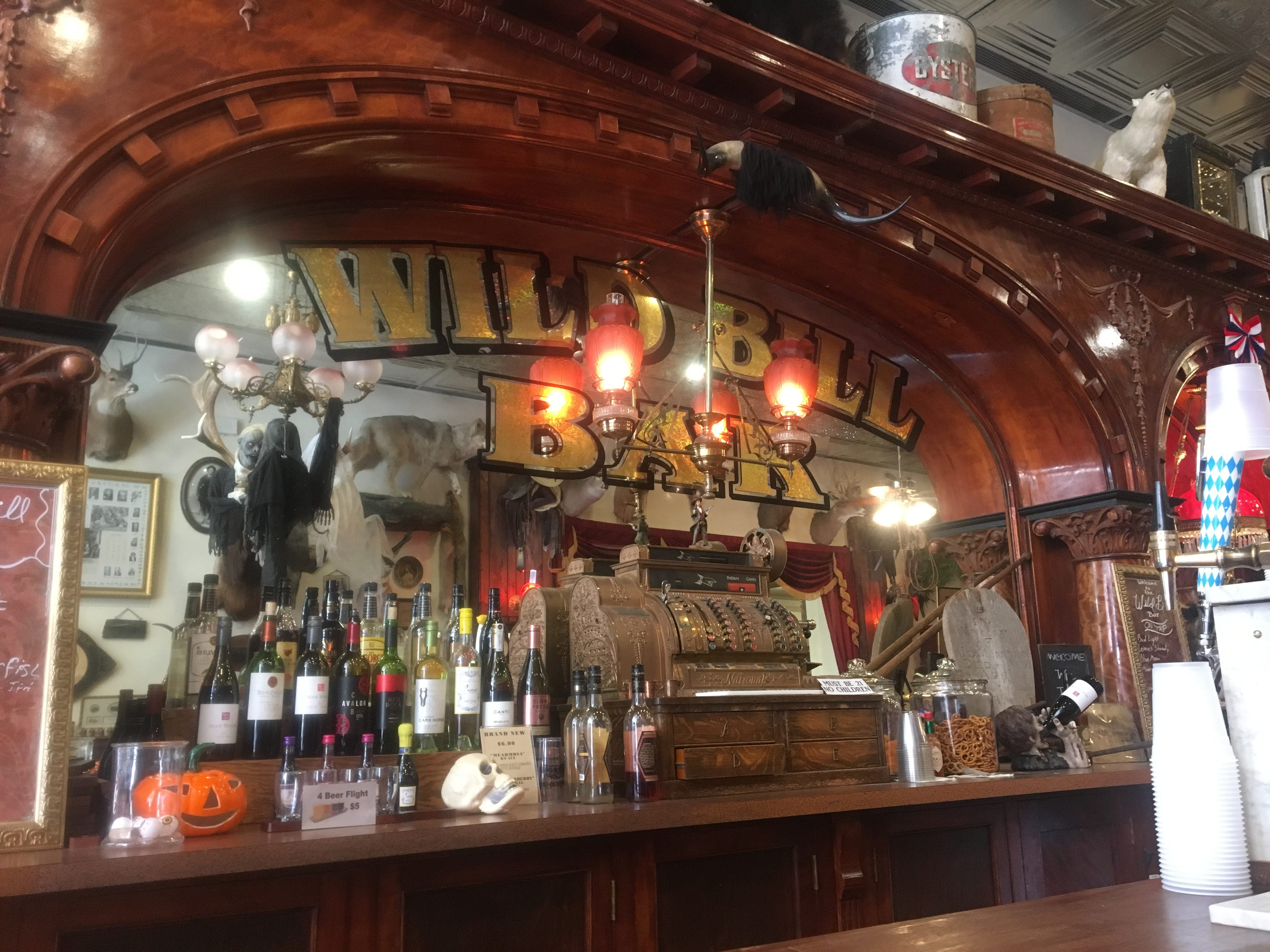 Old Style Saloon No.10 in Deadwood, where it is believed Wild Bill Hickock was shot during a game of poker.
