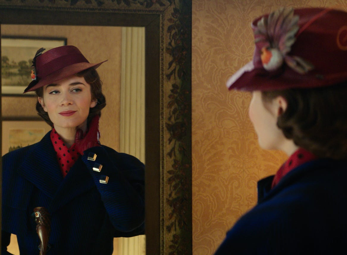 Mary Poppins (Emily Blunt) returns to the BanksÕ home in DisneyÕs original musical, MARY POPPINS RETURNS, a sequel to the 1964 MARY POPPINS  which takes audiences on an entirely new adventure with the practically perfect nanny and the Banks family.