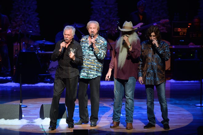 """The Oak Ridge Boys sang """"Amazing Grace"""" for Bush during his 1989 inauguration ceremonies, in the White House and at this family's home in Maine. They then  promised Bush they'd reprise the song at his funeral. (From left: Joe Bonsall, Duane Allen, William Lee Golden and Richard Sterban)"""
