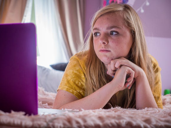 "This image released by A24 shows Elsie Fisher in a scene from ""Eighth Grade."" The film is among the American Film Institute's top 10 films of the year. AFI announced its selections for the 19th AFI Awards Tuesday, Dec. 4, 2018, recognizing works deemed culturally and artistically significant by a jury of AFI Trustees, scholars and critics."
