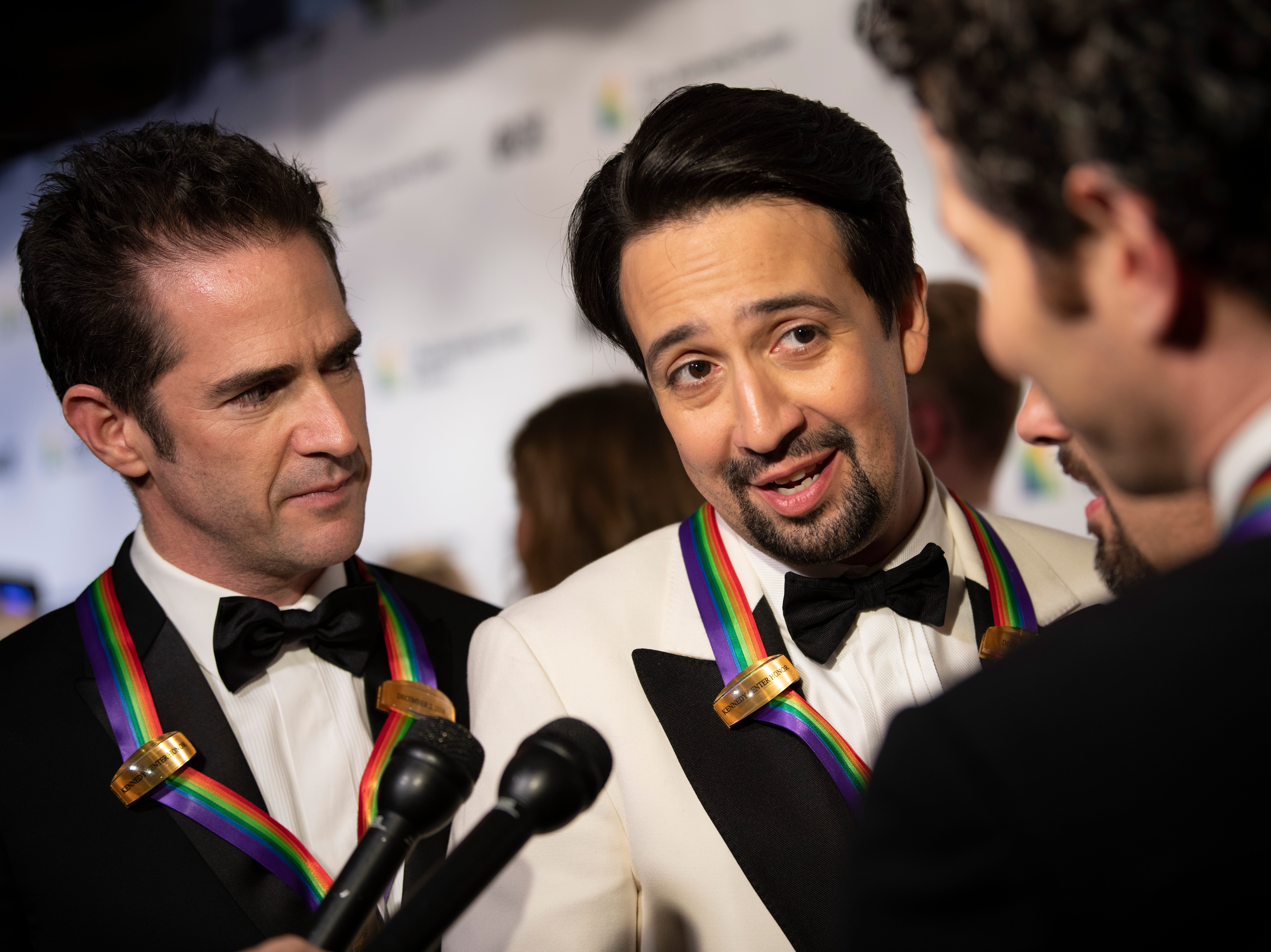 {Dec. 2, 2018} {8:41 p.m.} -- Washington, DC, U.S.A  -- The co-creators of the musical Hamilton were honored with a group award at the 2018 Kennedy Center Honors.  --    Photo by Hannah Gaber, USA TODAY staff ORG XMIT:  HG 137674 Kennedy Center H 12/2/2018 [Via MerlinFTP Drop]