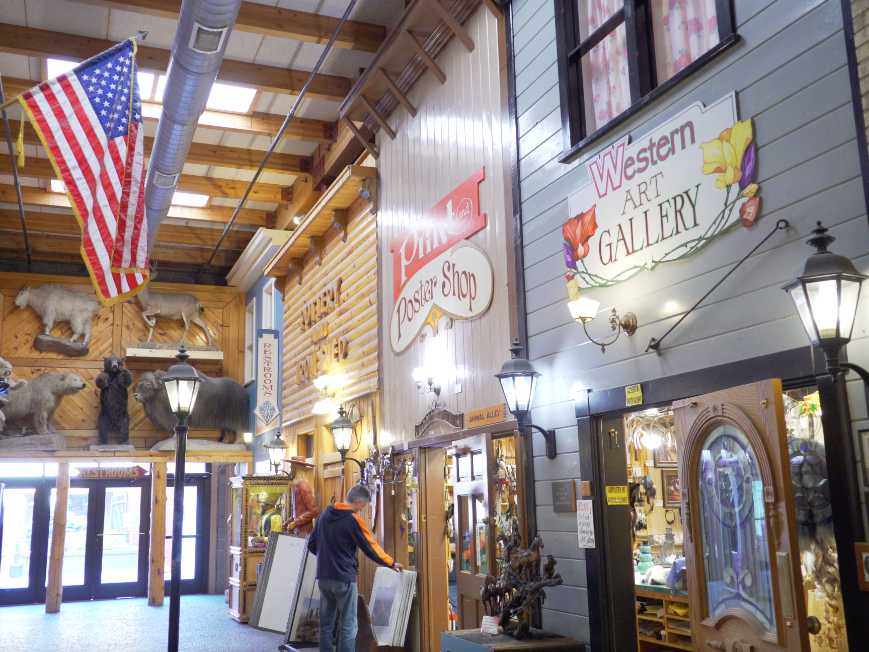 Wall Drug is part rest stop, part shopping mall, and mostly a gallery of kitchy Americana.