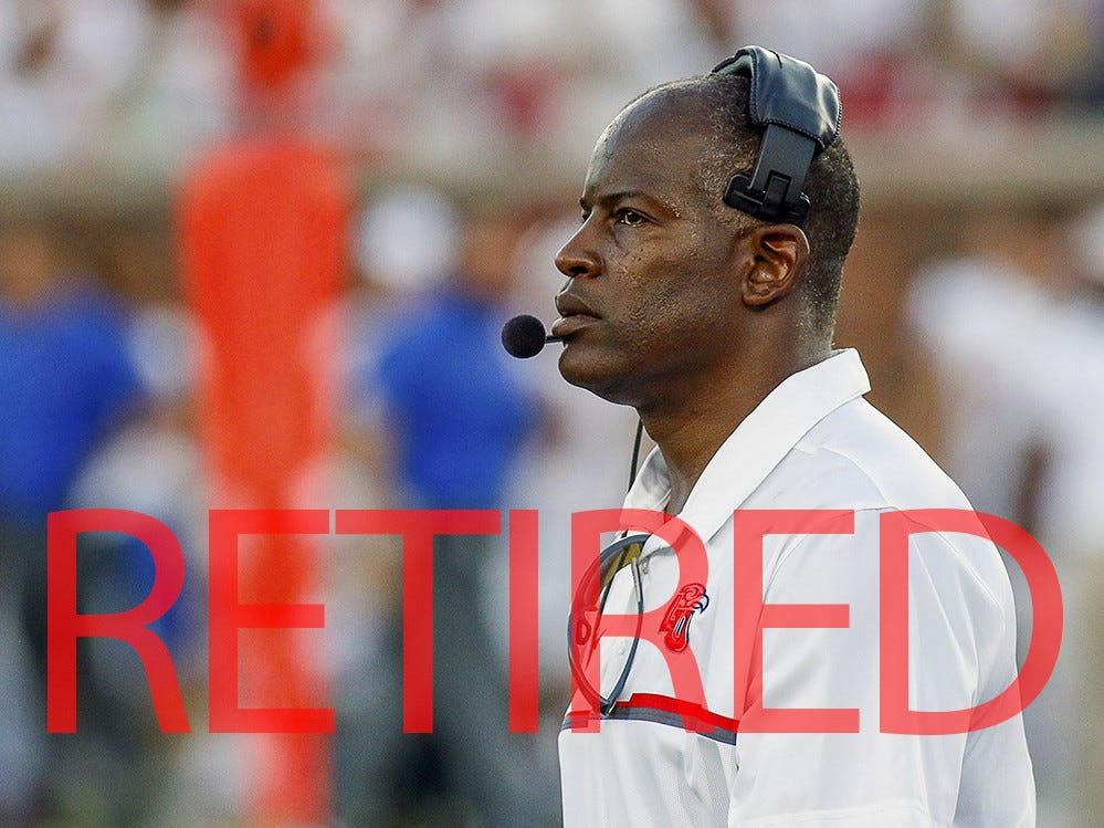 Turner Gill is retiring as head coach at Liberty. He went 47-35 in seven seasons as the Flames jumped from the FCS to the FBS.