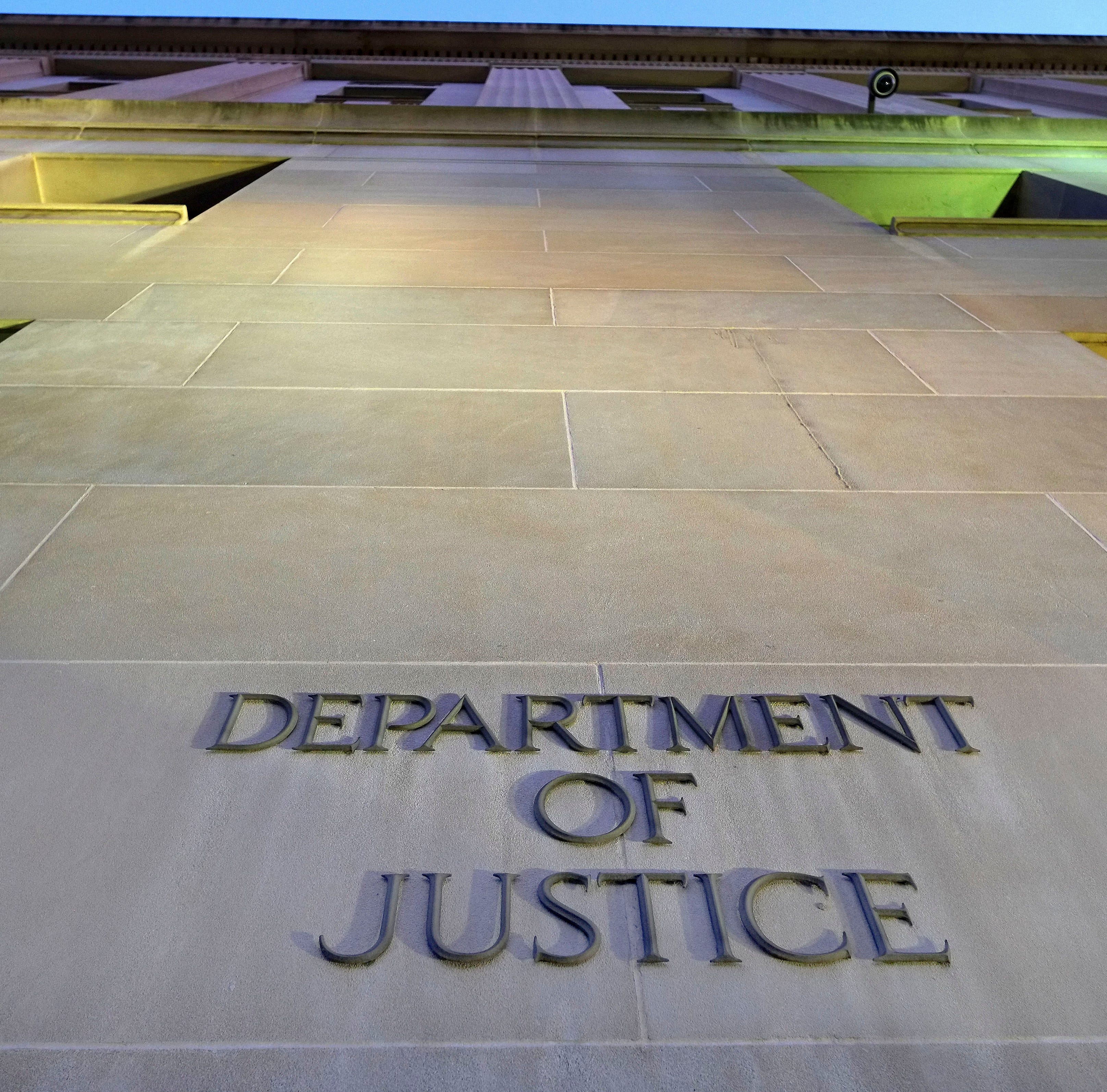 The Department of Justice headquarters building in Washington is photographed early May 14, 2013.