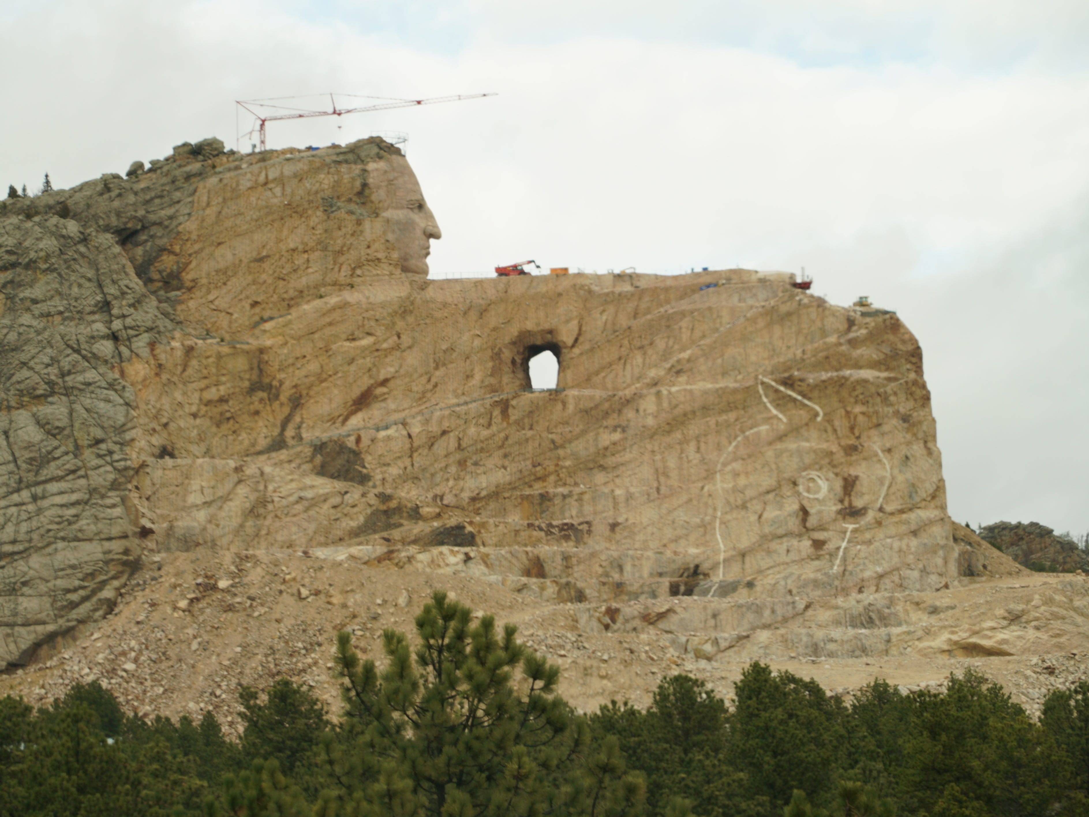 Construction on the Crazy Horse Memorial began in the 1940s, and is still a beautiful work in progress.