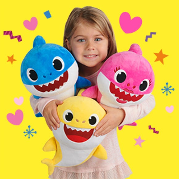 WowWee's baby shark plush toys, based on the popular song of the same name, sold out in just two days on Amazon.