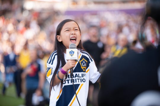 Malea Emma Tjandrawidjaja left players like Zlatan Ibrahimovic smiling ear-to-ear at her performance of the national anthem in September.