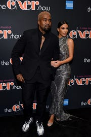 """NEW YORK, NEW YORK - DECEMBER 03: Kanye West and Kim Kardashian West arrive at """"The Cher Show"""" Broadway Opening Night at Neil Simon Theatre on December 03, 2018 in New York City. (Photo by Jenny Anderson/Getty Images for The Cher Show ) ORG XMIT: 775265948 ORIG FILE ID: 1077003430"""