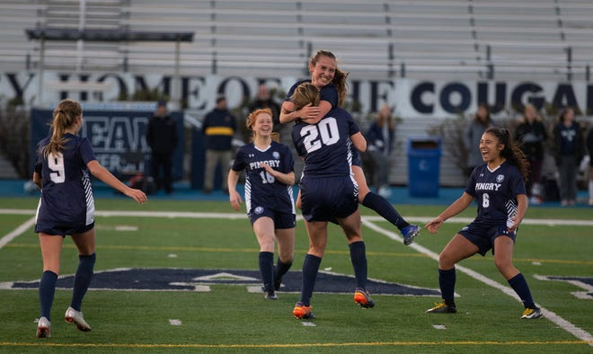 Pingry celebrate their state championship. Pingry vs Oak Knoll  in NJISSA Girls Non-Public A NJSIAA State Soccer Final