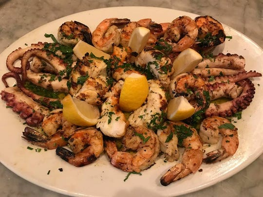 A seafood platter of octopus, shrimp and lobster at Brando's Citi Cucina in Asbury Park.