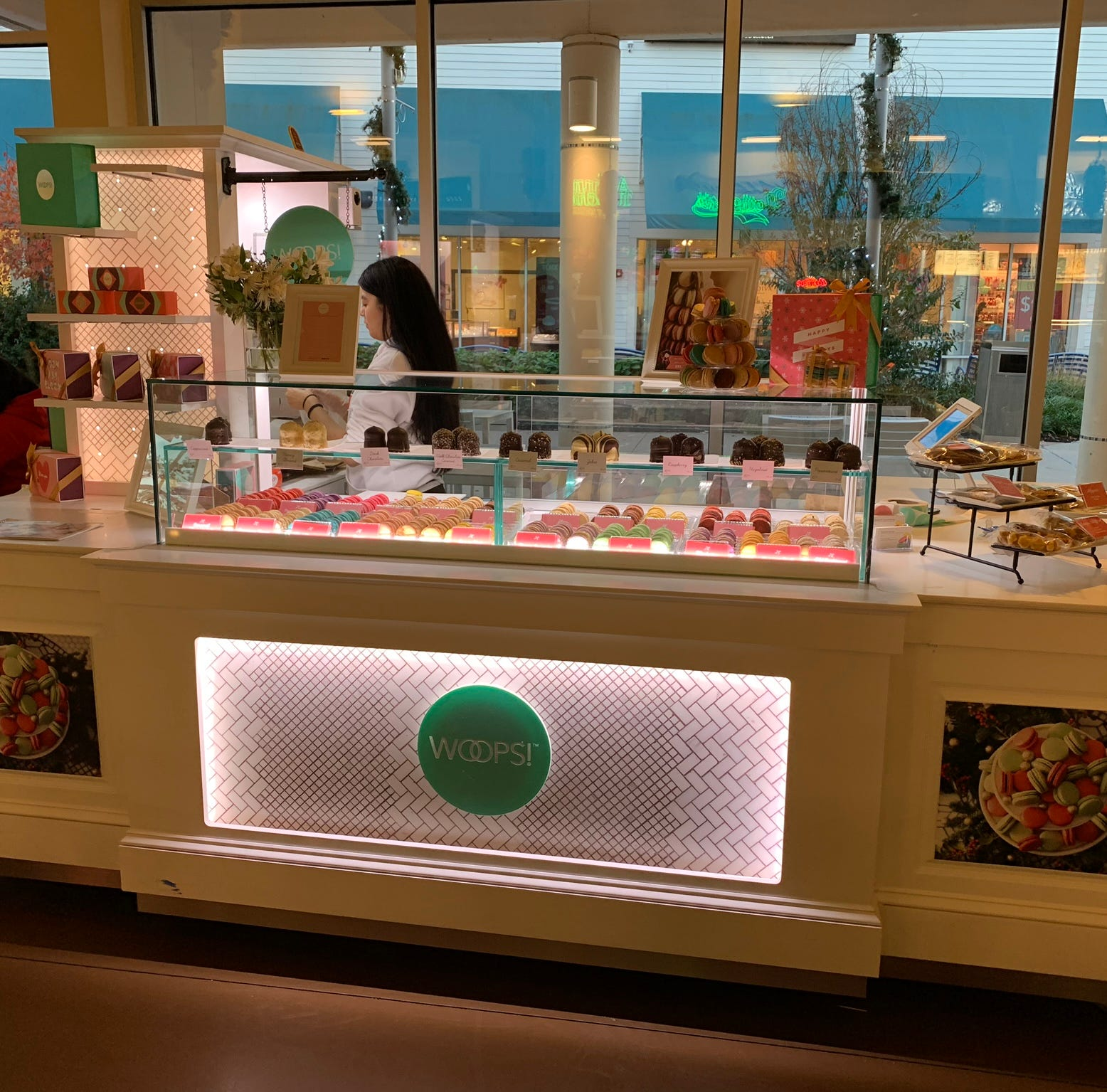 Woops! sells macarons at Jersey Shore Premium Outlets in Tinton Falls