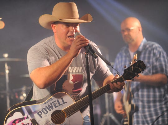 Former Cooper head football coach Todd Moebes went all country at Tuesday's Ben Richey holiday event.