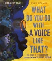 """""""What Do You Do With a Voice Like That? The Story of Extraordinary Congresswoman Barbara Jordan"""" by Chris Barton"""