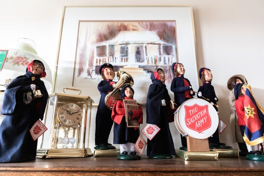The Salvation Army is a frequent subject for Byers' Choice, and both the Byers and the Snavelys support the organization.