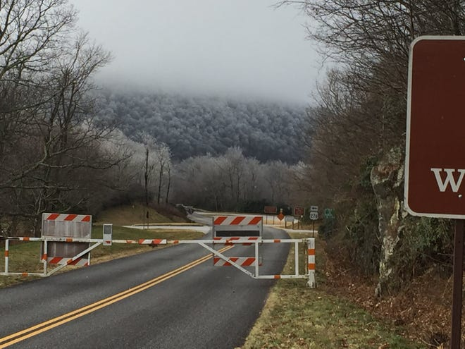 Much of the Blue Ridge Parkway in Western North Carolina is closed Thursday. More sections are expected to close this week as the winter storm approaches.