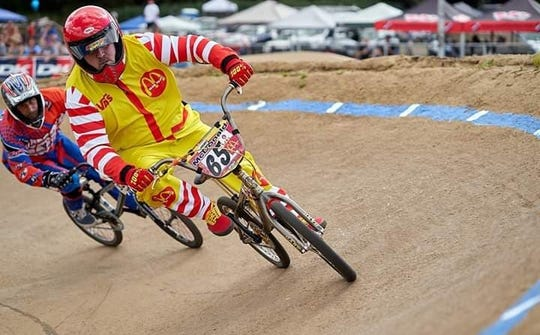 Battle Creek's Ron McDonald during a BMX race.