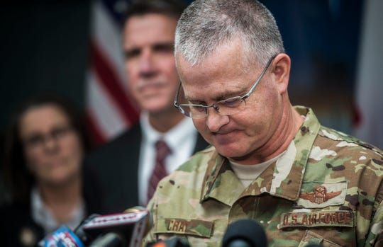 Maj. Gen. Steven Cray answers questions during a news conference on Thursday, Dec. 6, 2018, at the Vermont National Guard in Colchester after revelations came to light following a series of stories published by VTDigger.org describing sexual misconduct and the climate towards women at the guard.