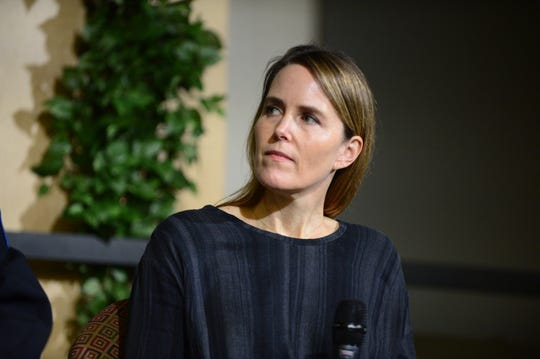Kate O'Neill, who penned a viral obituary for her sister Madelyn, at a town hall discussion on Dec. 5 2018