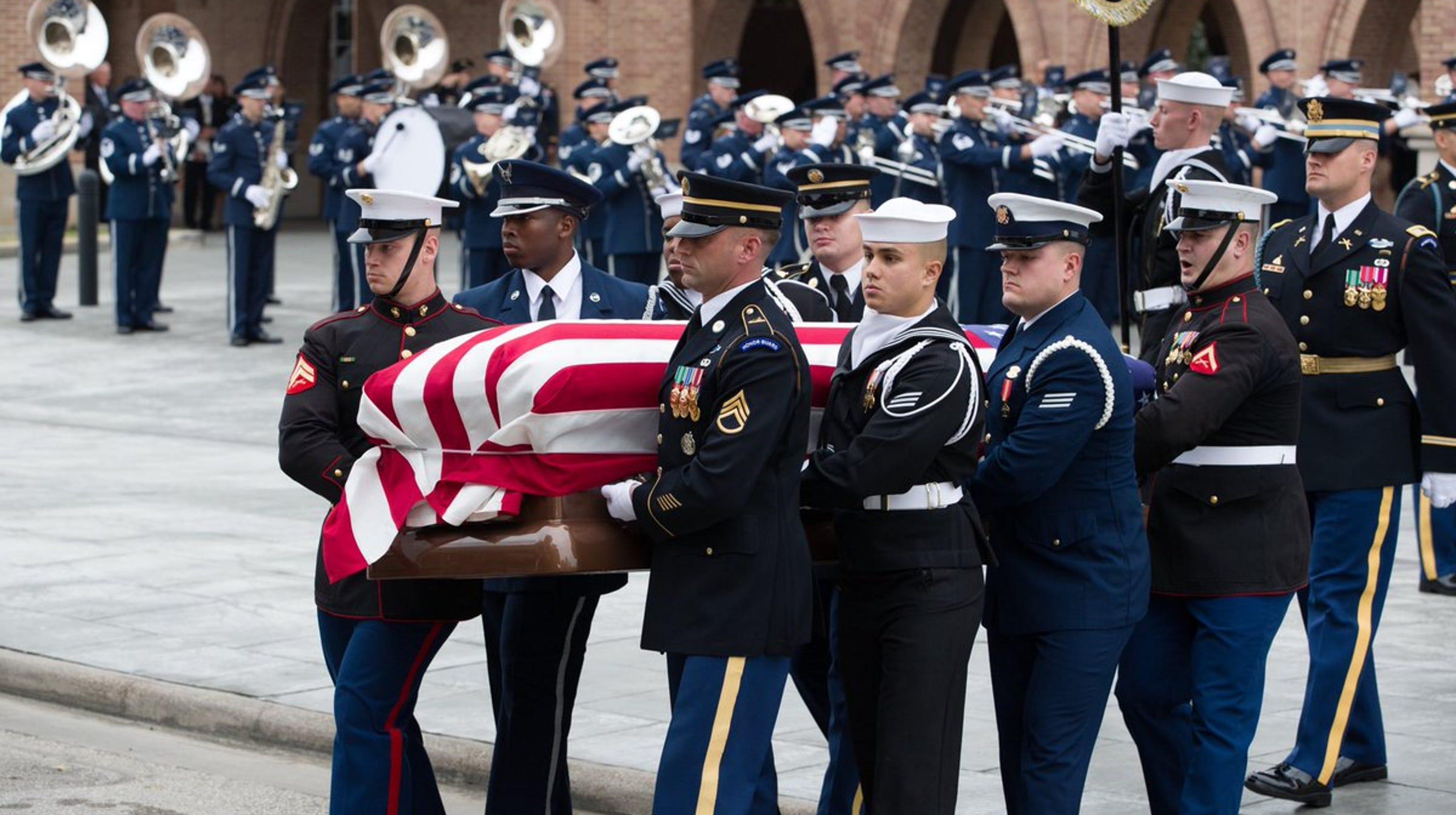 George HW Bush funeral train ushers former president to ...