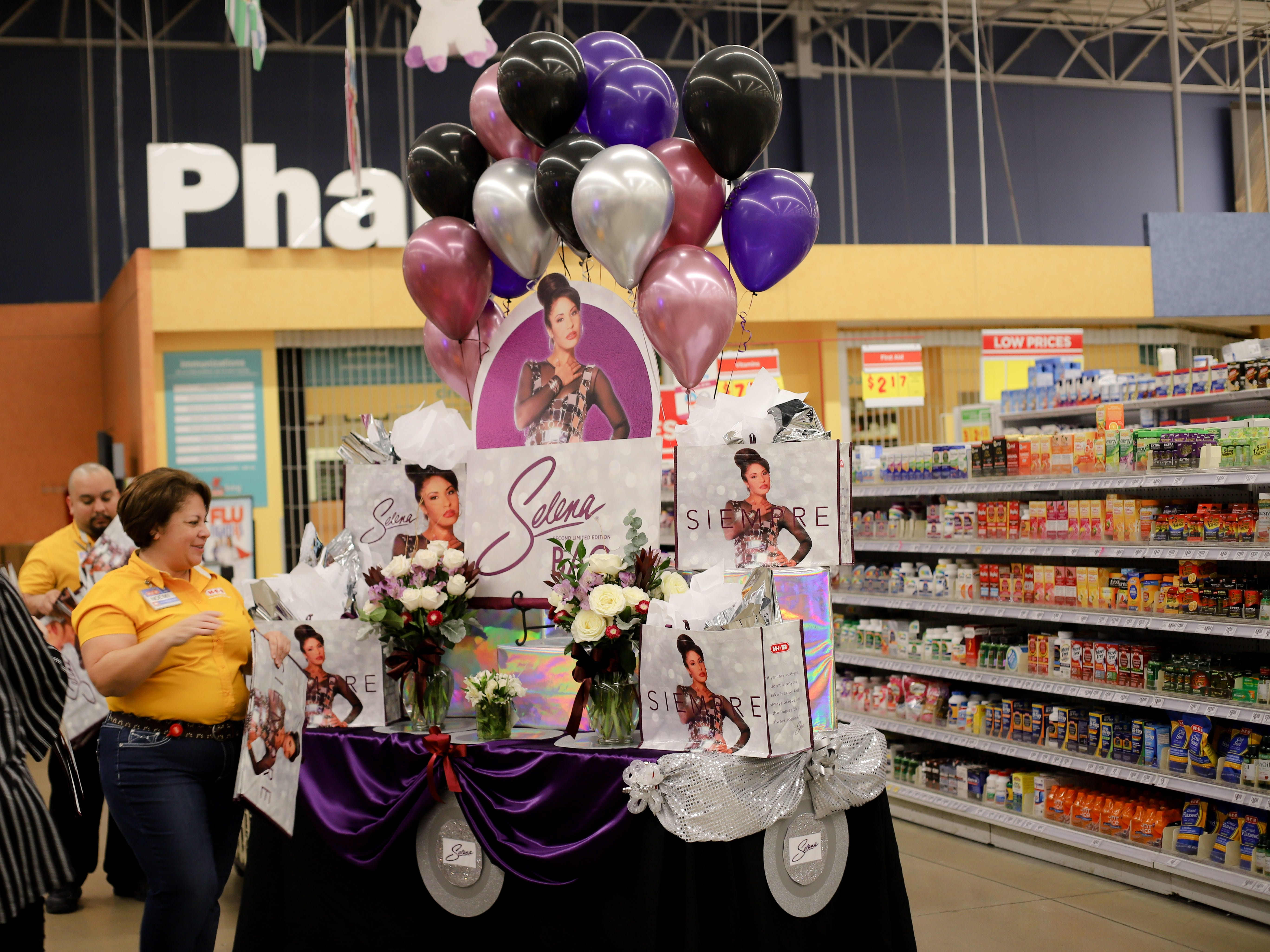 The H-E-B Plus on Saratoga Boulevard in Corpus Christi had a table displaying the second-edition Selena reusable bags on Dec. 6, 2018.