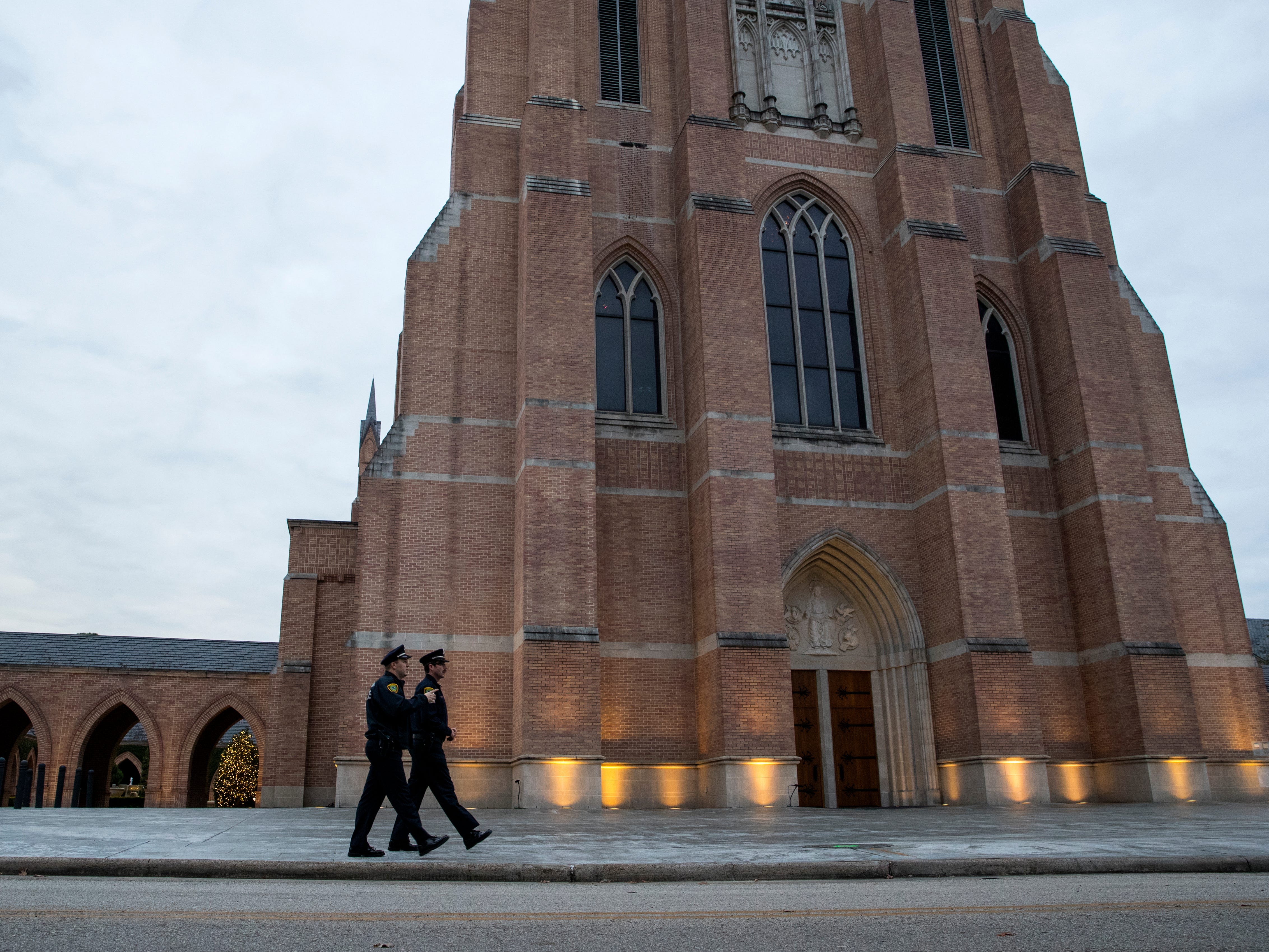 Former President George H.W. Bush's Funeral Service was held on Thursday, Dec. 6, 2018, at St. Martin's Episcopal Church in Houston, which is where he and former First Lady Barbara Bush worshiped for more than 50 years.