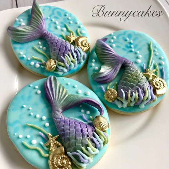 Mermaids are among Bunny Kennedy's favorite inspirations. Her new Berlin Borough bakery, Bunnycakes, specializes in custom orders.