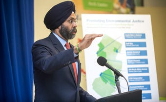 New Jersey Attorney General Gurbir Grewal discusses lawsuits across New Jersey targeting polluters in lower-income and minority communities.