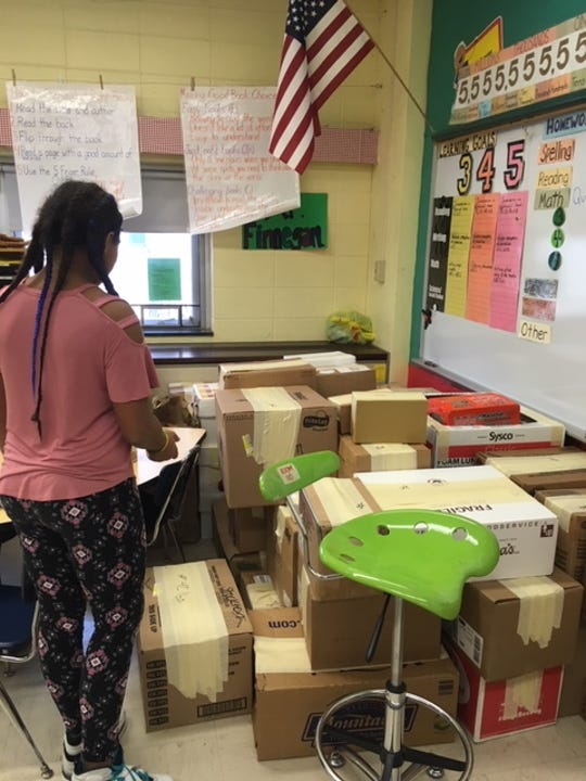 Students at Richard Stockton Elementary School in Cherry Hill donated more than 2,000 canned goods to a holiday food drive.