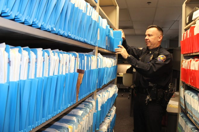 In 2014, the Forest Park Police Department switched from paper reports like these to a new paperless system. On Oct. 27, it failed.