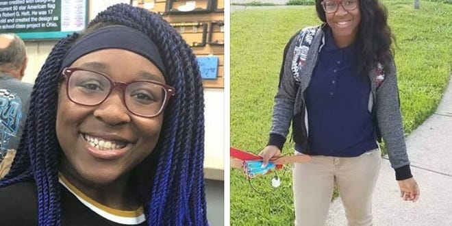 Serenity Laury has been missing since 5 p.m. Tuesday. She was last seen on Laboiteaux Avenue.