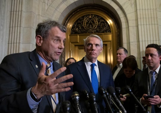 "Both of Ohio's senators, Democrat Sherrod Brown and Republican Rob Portman, visited detention centers along the Southern border and described a ""humanitarian crisis."""