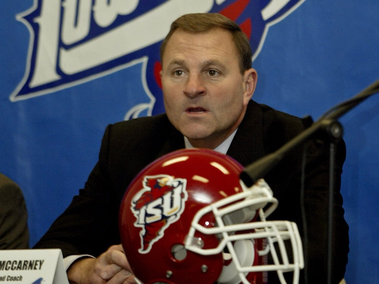 """Iowa State coach Dan McCarney said at a press conference before the 2005 Independence Bowl that he appreciates the chance to showcase his team on a national stage. """"We've got a special group of young kids that really have grown up fast,"""" he said."""