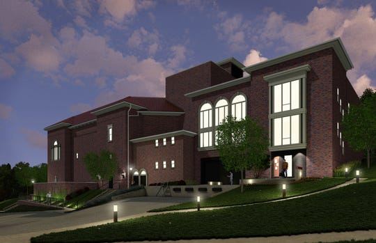 A rendering of the proposed Art and Education Center at Hoyt Sherman Place, a planned $3.5 million addition to the Des Moines venue.