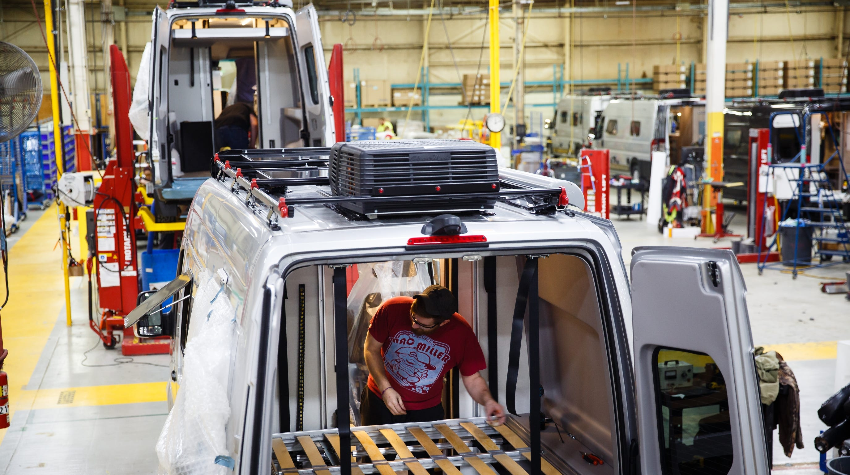 Smaller, more rugged RV's roll off the line at Winnebago plant