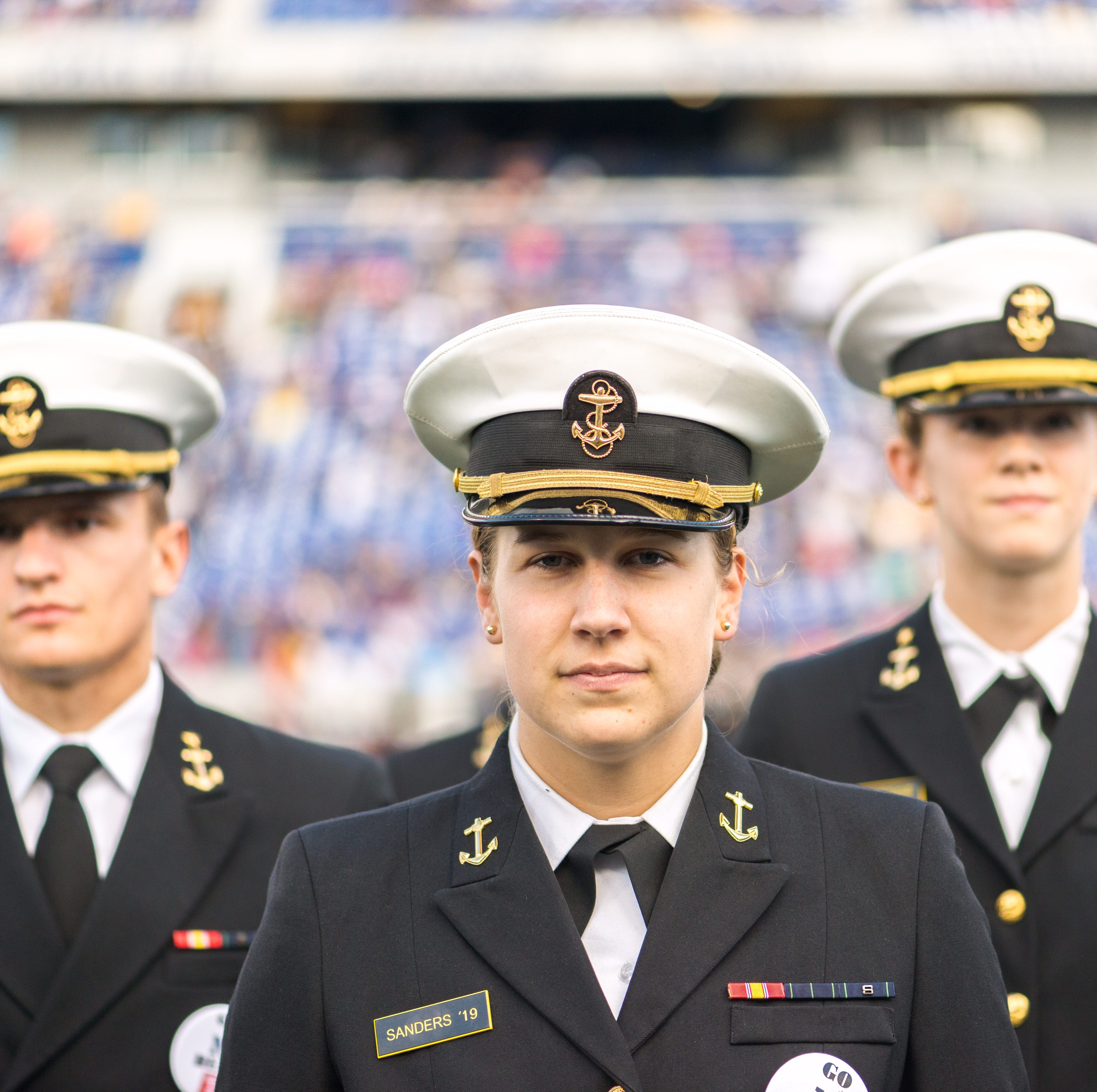 Iowa native Molly Sanders' role at Naval Academy shifts from hoops to hero