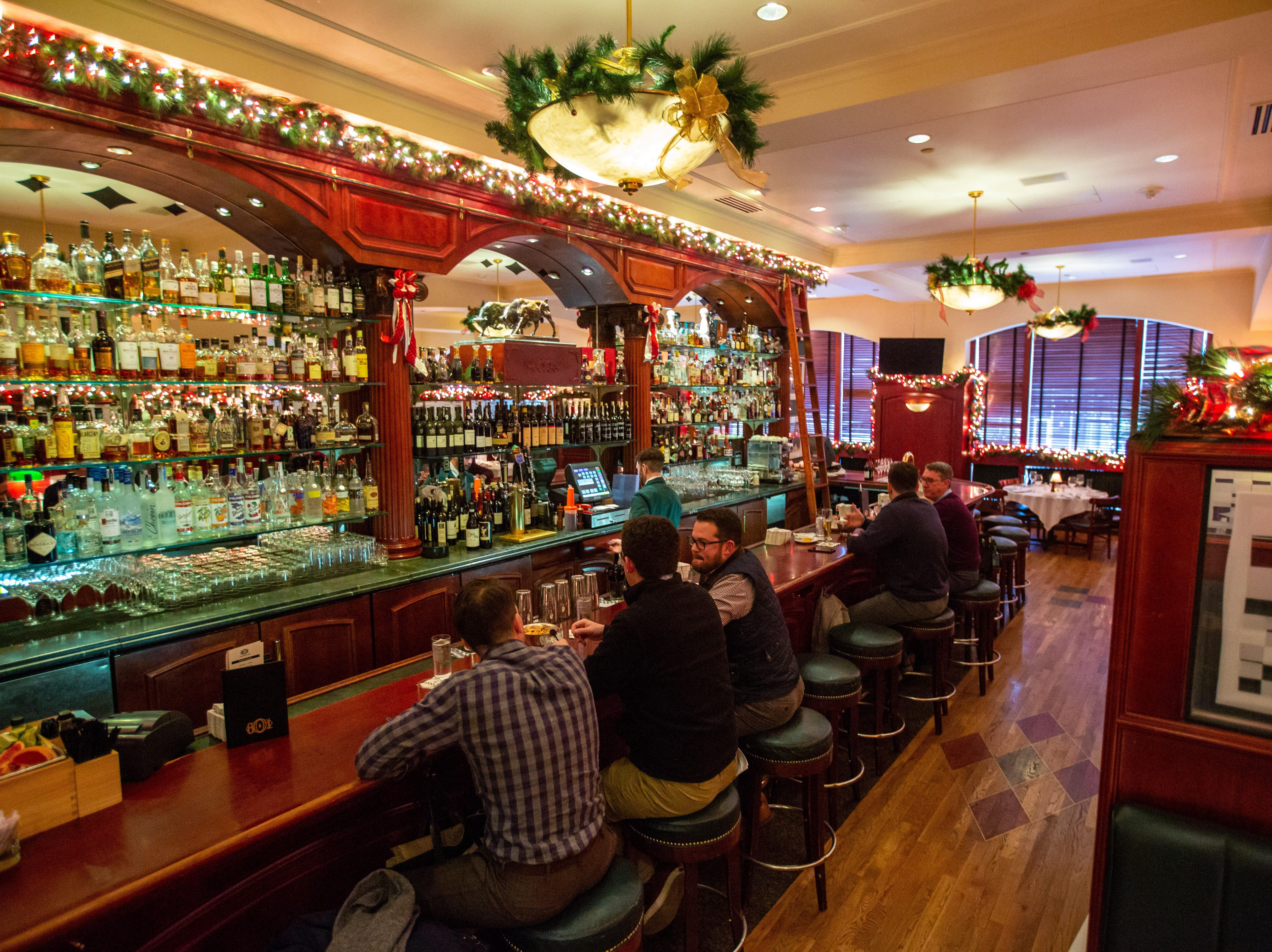 The bar at 801 Chophouse Wednesday, Dec. 5, 2018.