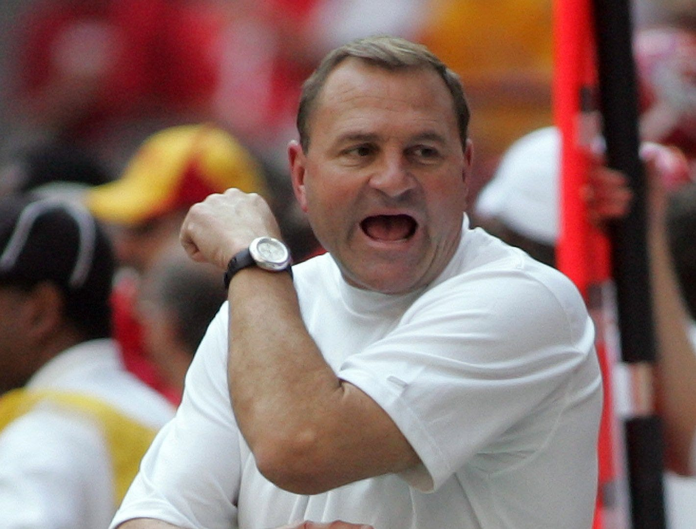 Iowa State coach Dan McCarney's team put together a game effort but couldn't quite match Texas Christian in the 2005 Houston Bowl. The three-point loss was the fourth close defeat for the Cyclones, who finished at 7-5.