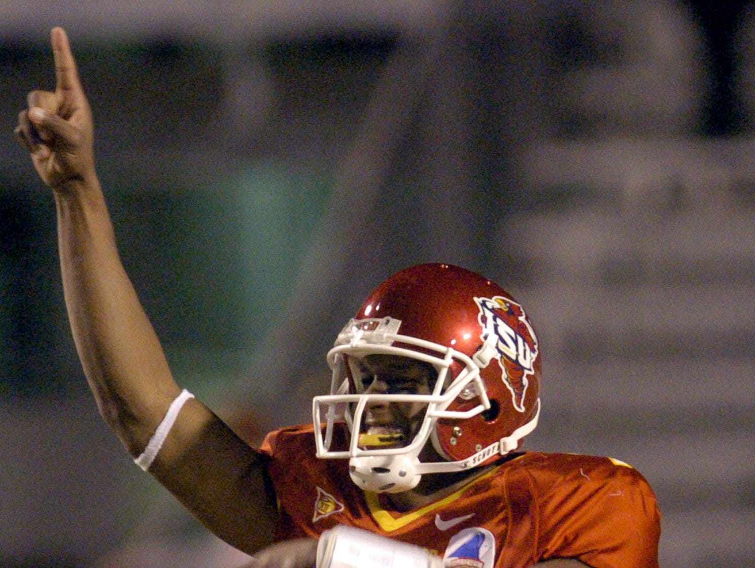 Iowa State quarterback Bret Meyer earned offensive MVP honors after a 122-yard rushing day to go with his 114 passing yards in the 2004 Independence Bowl.