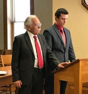 Dean Robb sponsored his son Matt Robb to be sworn into the State Bar of Michigan in 2017 in Traverse City.
