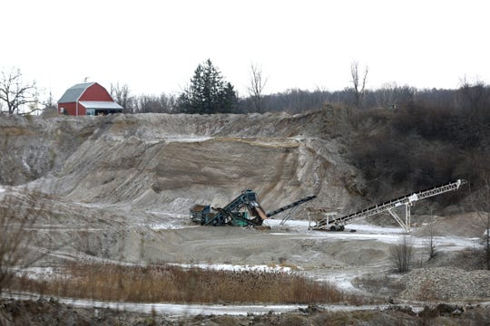 The Schenkel Gravel Pit off Dryden Road in Metamora Township on Wednesday December 5, 2018.