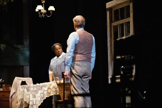 Harper Lee's TO KILL A MOCKINGBIRD, a new play by Aaron Sorkin, starring Jeff Daniels as Atticus Finch and directed by Bartlett Sher. This photo shows a scene between LaTanya Richardson Jackson and Jeff Daniels.